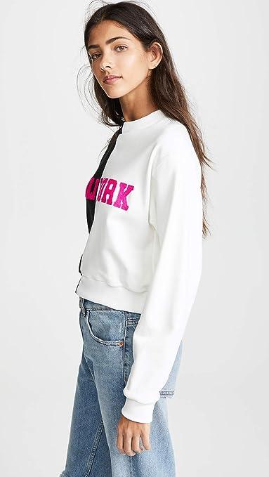 9c4d6005b41acd Amazon.com  Cynthia Rowley Women s Cali York Embroidered Crop Sweatshirt