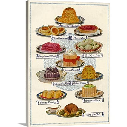 Amazon com: GREATBIGCANVAS Gallery-Wrapped Canvas Entitled Food