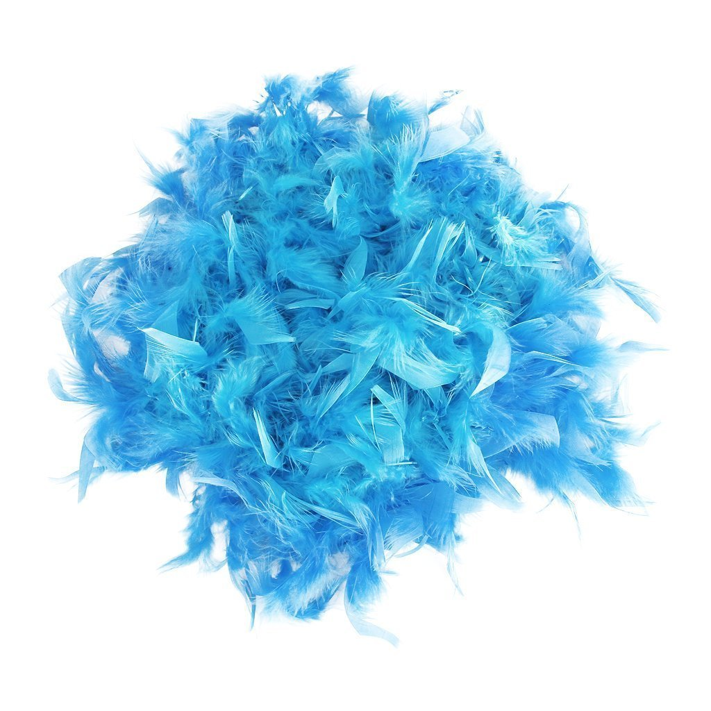 Jooks Feather Scarf Artificial Feather Scarf High Quality Feather Scarf Flapper Fancy Dress Fluffy Craft Hen Nights Accessory Royal Blue