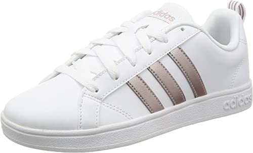 autómata Igualmente cilindro  Amazon.com | adidas Slipper White AW3865 VS Advantage 36 White | Fashion  Sneakers