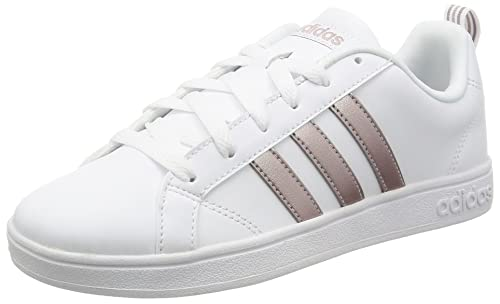 best website a1eee b9608 adidas Womenss Vs Advantage Tennis Shoes, FTWR WhiteVapour Met.Pearl  Grey