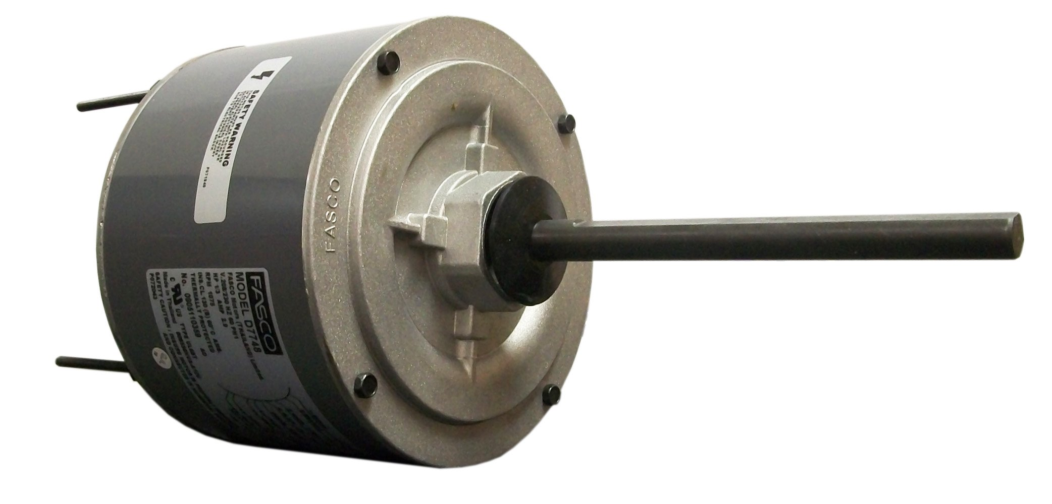 Fasco D7748 5.6-Inch Condenser Fan Motor, 1/3 HP, 208-230 Volts, 1075 RPM, 1 Speed, 2.9 Amps, OAO Enclosure, Reversible Rotation, Ball Bearing