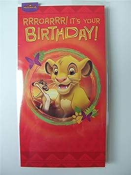 Disney Simba Roi Lion Carte Danniversaire Pour Tout âge Par