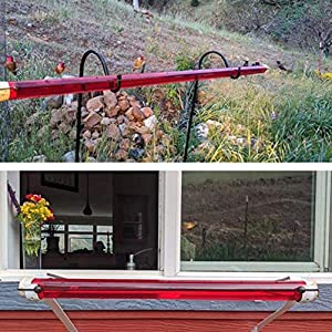 Best Hummingbird Feeder for Outdoors 15.7 inch Window Bird Feeder for Outside Wild Bird Houses with Red Poly-Carbonate Tube, Summer Decor for Outdoors, Deck, Patio, Garden, Yard