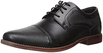 Rockport Men's Style Purpose Cap Blucher Oxford, Black Leather, ...