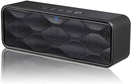 Altavoz, Altavoz con Cable e inalámbrico Bluetooth Altavoz estéreo de Audio HD, Ranura para Tarjeta TF, teléfono móvil, TV, Tableta, Sonido Potente, ...