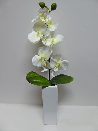 Amazon.de: UK-Gardens groß Künstliche Topfpflanze, Weiße Orchidee ...