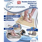 Hydro Wonder® Luxe antidérapant pour douche et bain shower Mat Tapis 40x 60cm en beige ou gris–Original en TV Publicité., gris, 40 x 60 cm
