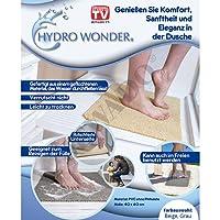 Hydro Wonder - Tapis de luxe antidérapant pour douche et bain - 40x 60cm - Beige ou gris-Original vu à la TV
