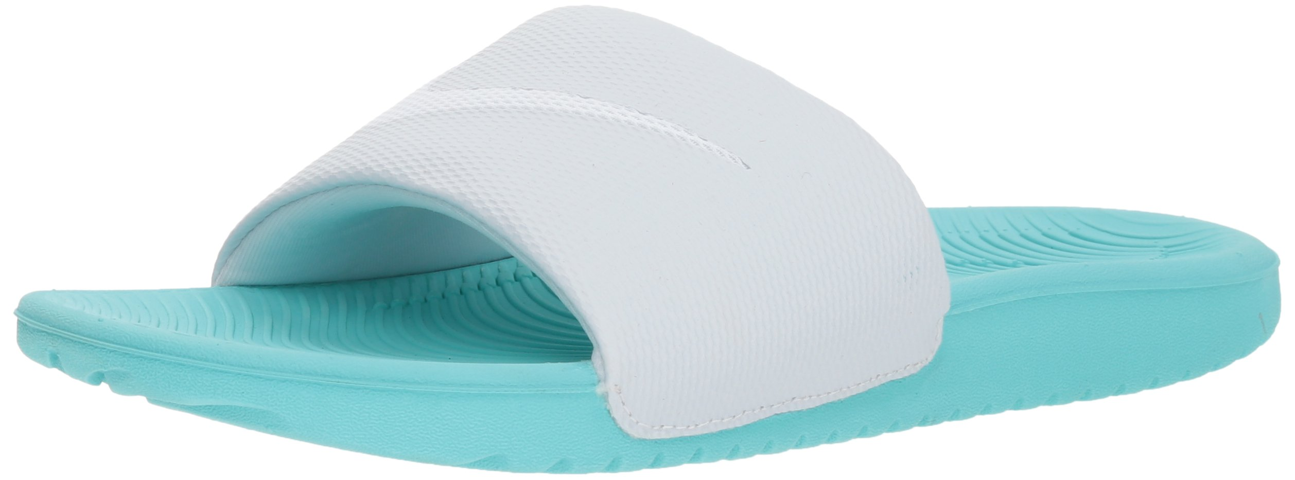 NIKE Women's Kawa Slide Sandal, Aurora Green/White/Pure Platinum, 9 B US