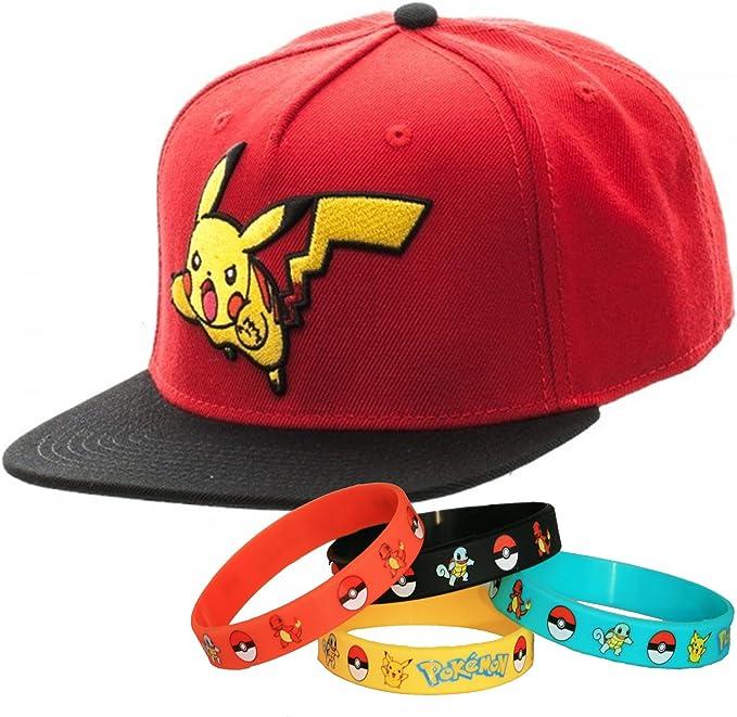 headwear Pokemon Go Pikachu Character Gorra Gorro con pulsera ...
