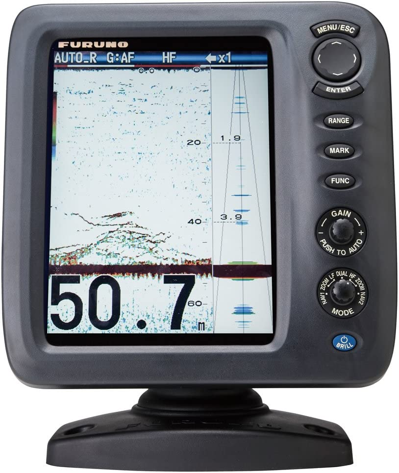 Furuno FCV588 Color LCD, 600/1000W, 50/200 KHz Operating Frequency Fish Finder Without Transducer, 8.4""