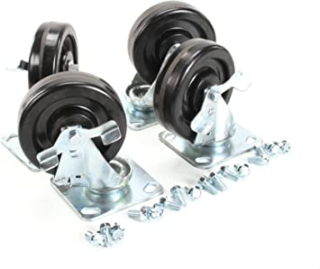 Four 6 Inch Casters Kit With Lock Traulsen CK1