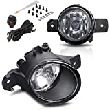autosaver88 fog lights h11 12v 55w halogen lamp clear glass lens for 03-18  nissan