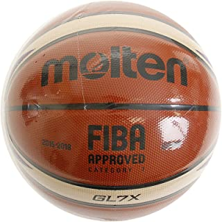 Molten BGL7X-E7T Basketball, Orange/Ivory, 7