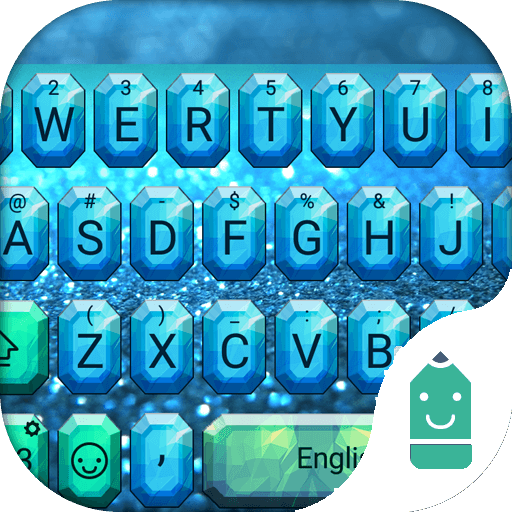 Android Diamond: Amazon.com: Blue Diamond Theme&Emoji Keyboard: Appstore