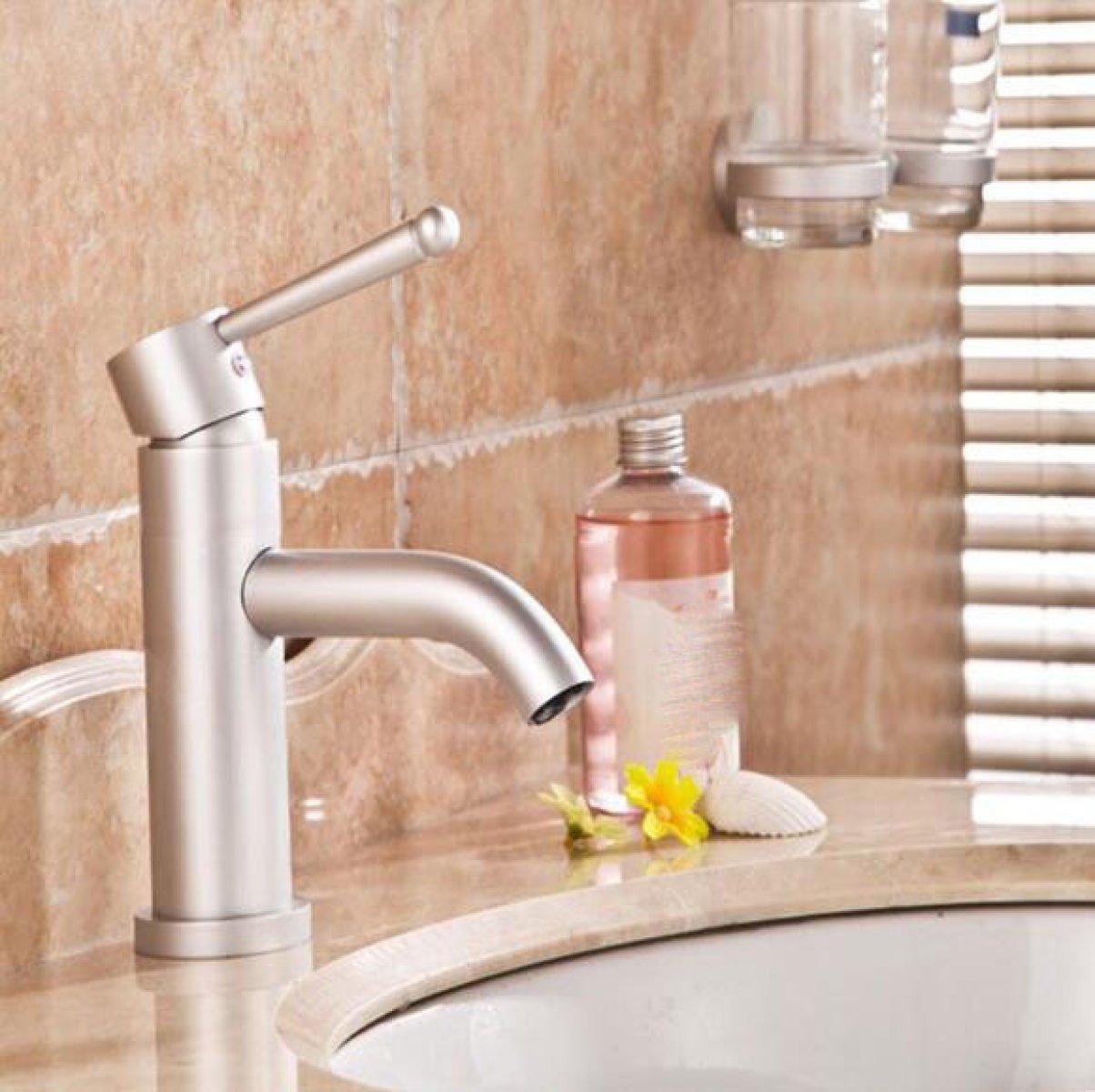 LDONGSH Space Aluminum Basin Basin Lead Free Bathroom Bathroom Faucet Tap