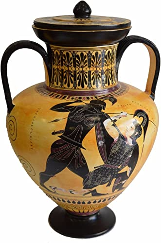Hand Made Achilles and Penthesileia – Ancient Greek Amphora Vase- British Museum Replica