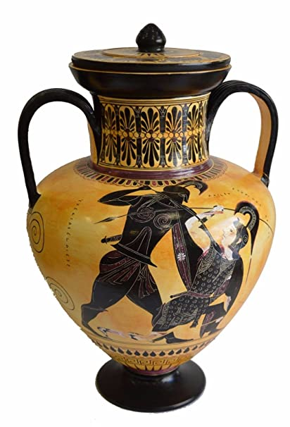 Amazon Achilles And Penthesileia Ancient Greek Amphora Vase