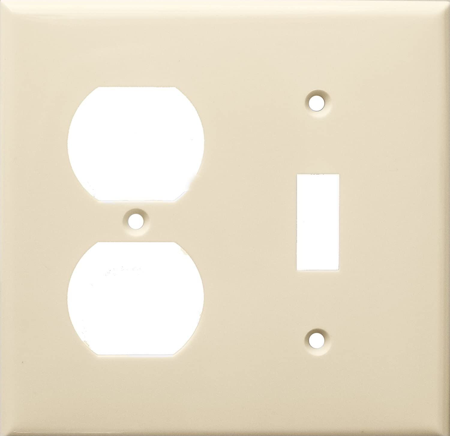 Almond 1 Toggle Morris 81293 Lexan Wall Plate 2 Gang 1 Duplex Wall Plates