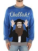 Tipsy Elves Men's Challah Funny Hanukkah Sweater - Ugly Hanukkah Sweater