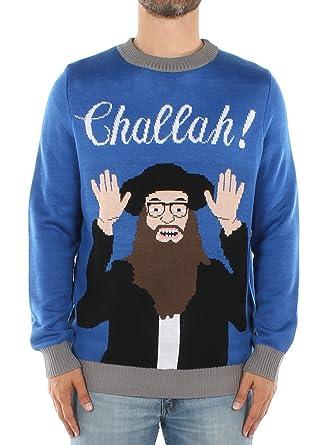 ac0ba18a9 Amazon.com: Tipsy Elves Men's Challah Funny Hanukkah Sweater - Ugly ...
