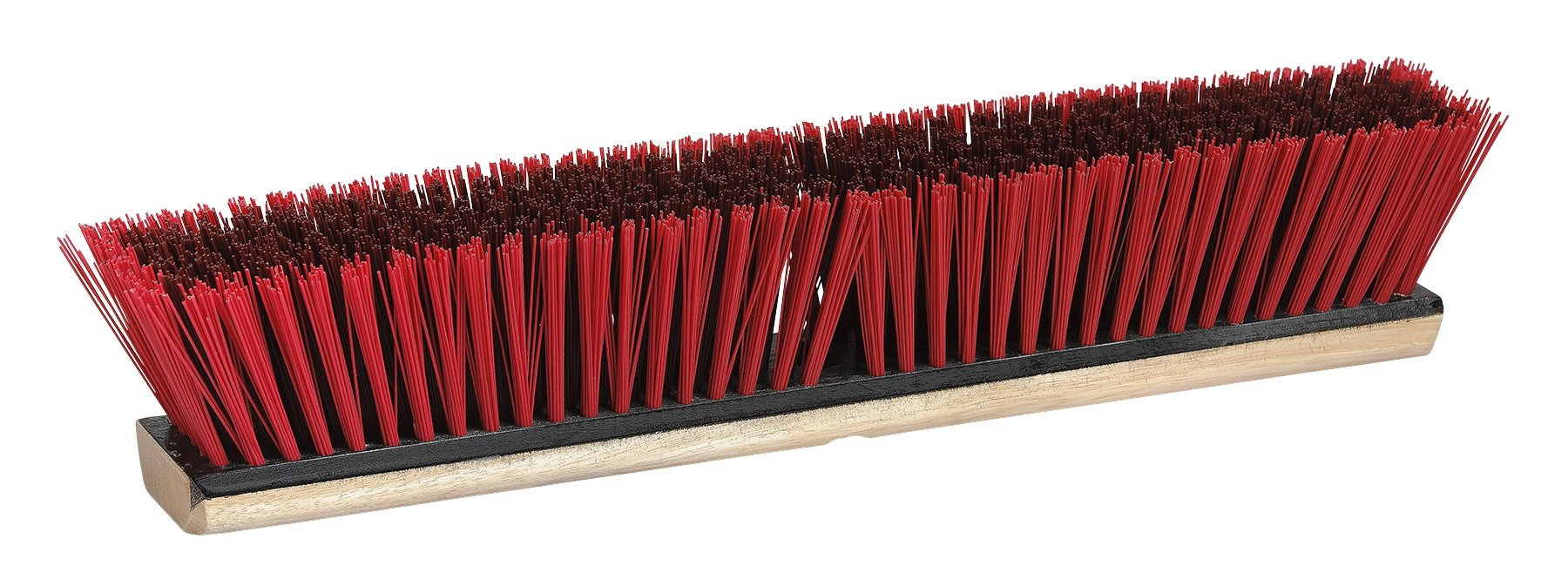 M2 Professional 24 Inch Garage/Warehouse Heavy Duty Push Broom Head with Hardwood Block - Medium/Coarse Sweep (Case of 12)