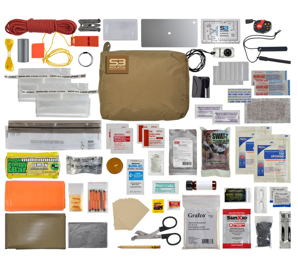 Hunter/Mountain Professional Grade Survival Kit (TAN) SOLKOA Survival Systems