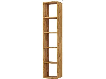 designer fashion a9cfa 32c5c Wall Mounted Hanging Shelf Cube 5-Tier Storage Unit 36 x 30 x 174  Centimeter Living Room - Solid Oak Wood