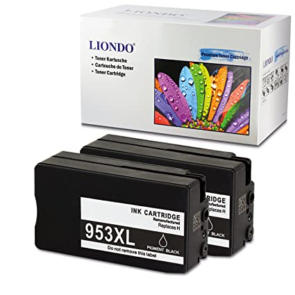 liondo® 2 volumen de cartuchos de impresora Negro Compatible con ...