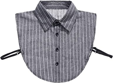 Haia7k4k - Camisa de cuello falso, color gris y blanco 1 Taille unique: Amazon.es: Ropa y accesorios