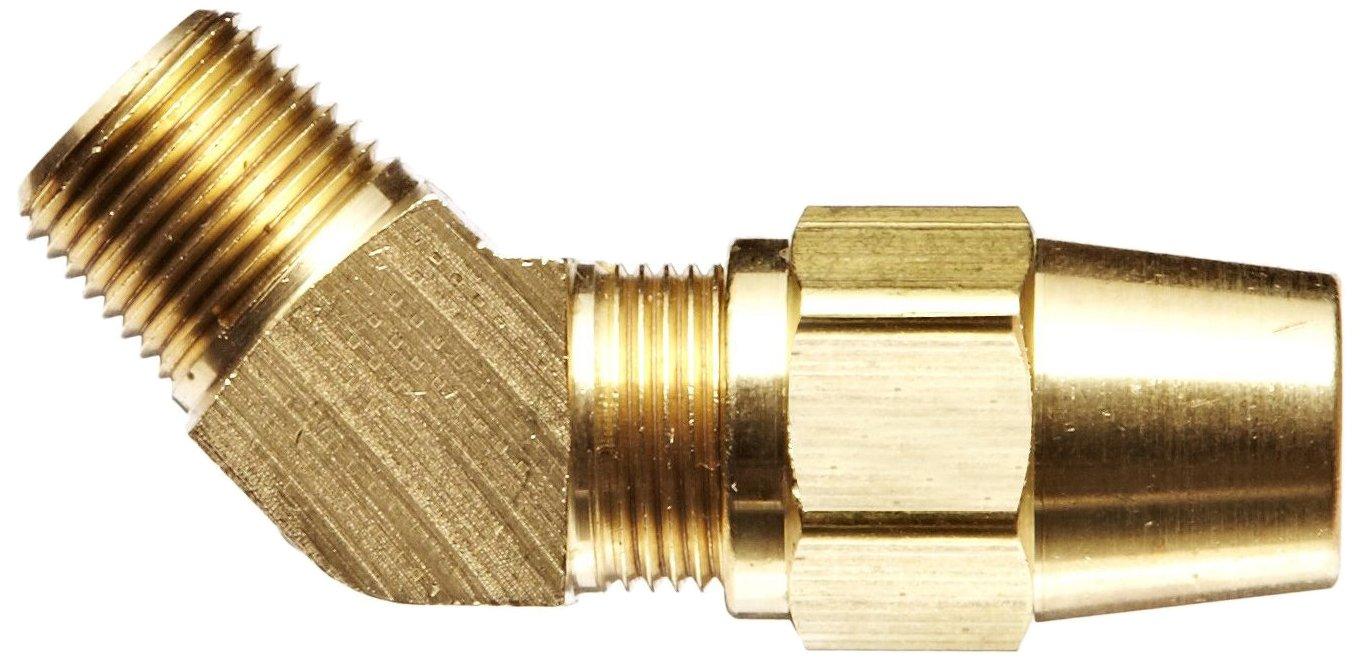 EATON Weatherhead 1380X6X6 Air Brake Tubing Male Elbow to Male Pipe Thread 45 Degree Elbow 3//8 Male Pipe Thread 3//8 Tube OD