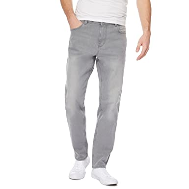 2b06088f Red Herring Men Grey Tapered Fit Jeans 28R: Red Herring: Amazon.co ...