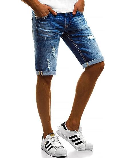 BOLF Herren Jeans Shorts Denim Shorts Kurze Hosen Bermudas Sporthose Freizeithose Clubwear Sportswear Casual Style 7G7