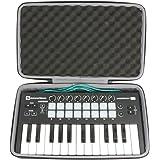 co2crea Hard Travel Case for Novation Launchkey Mini MK3 MK2 25-Mini-Key MIDI USB Keyboard Controller (CAN'T fit…
