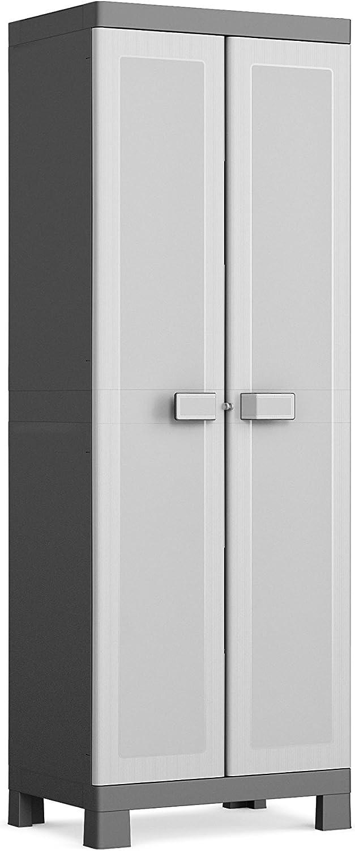 Keter Logico Armario escobero, Negro/Gris, 65x45x182 cm