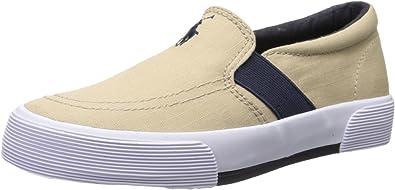 Little Kid//Big Kid Polo Ralph Lauren Kids Faxon II Sneaker ,Khaki//Navy,1 M US Little Kid