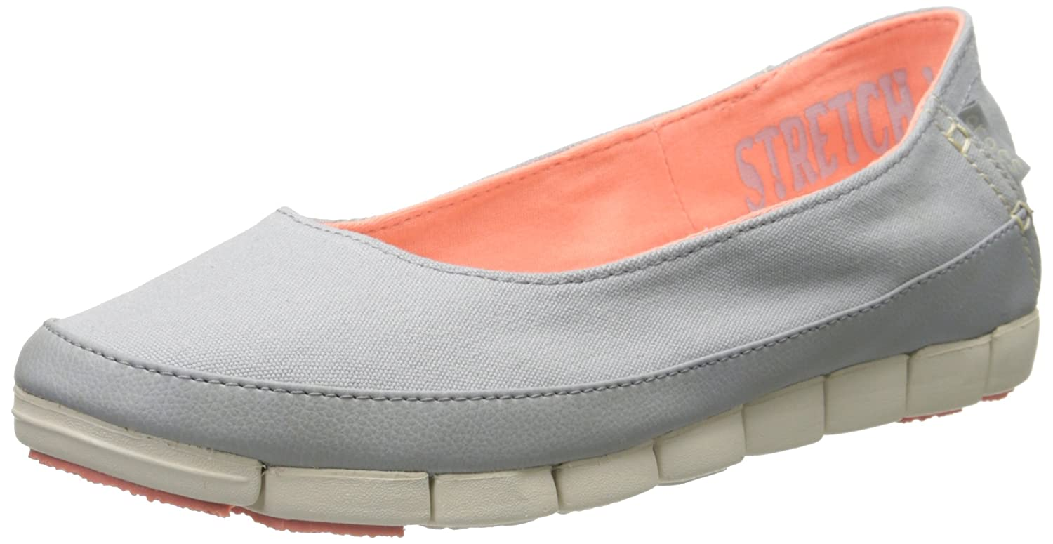 Crocs Damen damen's Stretch Sole Flat Light grau