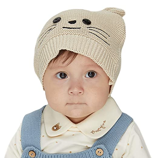 2c2ca1cbaef Image Unavailable. Image not available for. Color  LETTAS Infant Baby Boys  Girls Fall Winter Beanie Soft Warm Knitted Hat ...