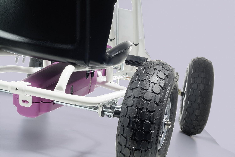 V/éhicule /À P/édales 5717 Blanc-Rose 2045850 Ferbedo Go-cart Air-Runner Flower avec Bo/îte Sonore
