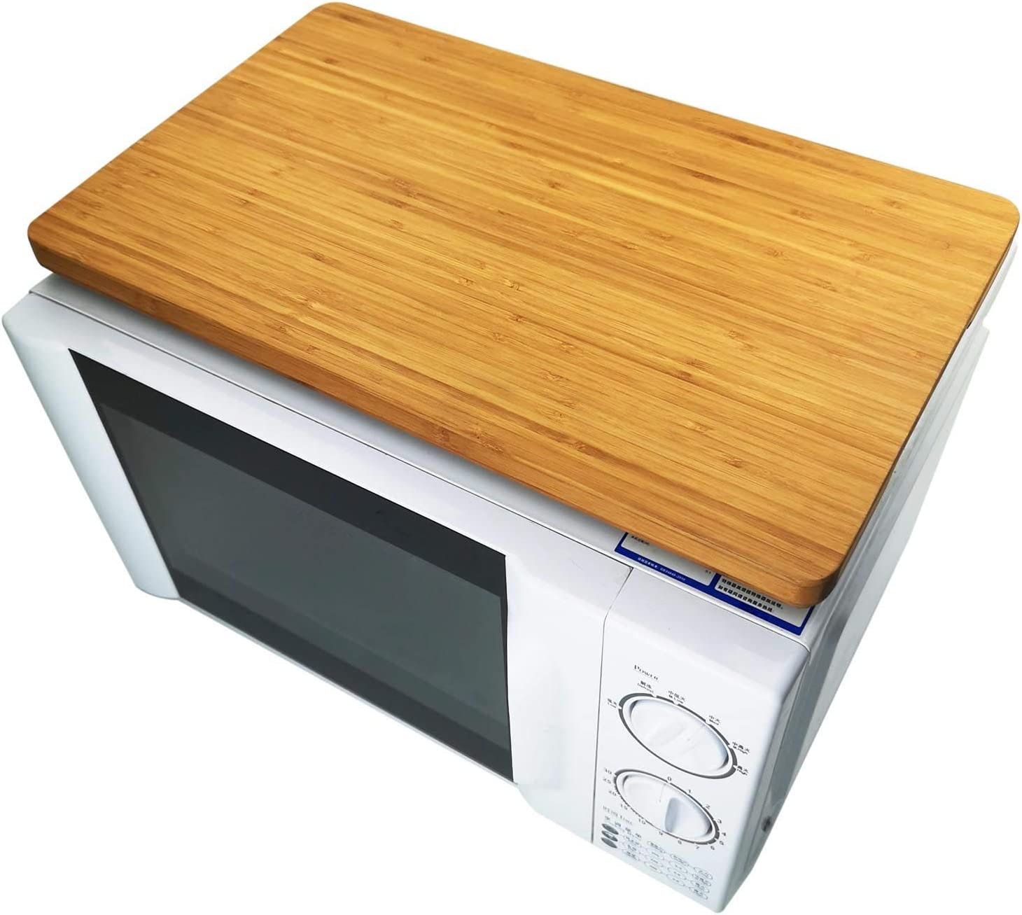 Smart Oven Top Bamboo Cutting Board For Kitchen, HI-BOV800CB, Convection Toaster Oven Butcher Block with Anti-Slip Feet, 17.8x10.8
