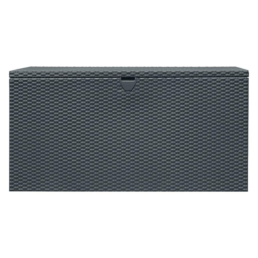 Arrow Storage Products 134 Gal. HDG Steel Spacemaker Deck Box - Anthracite