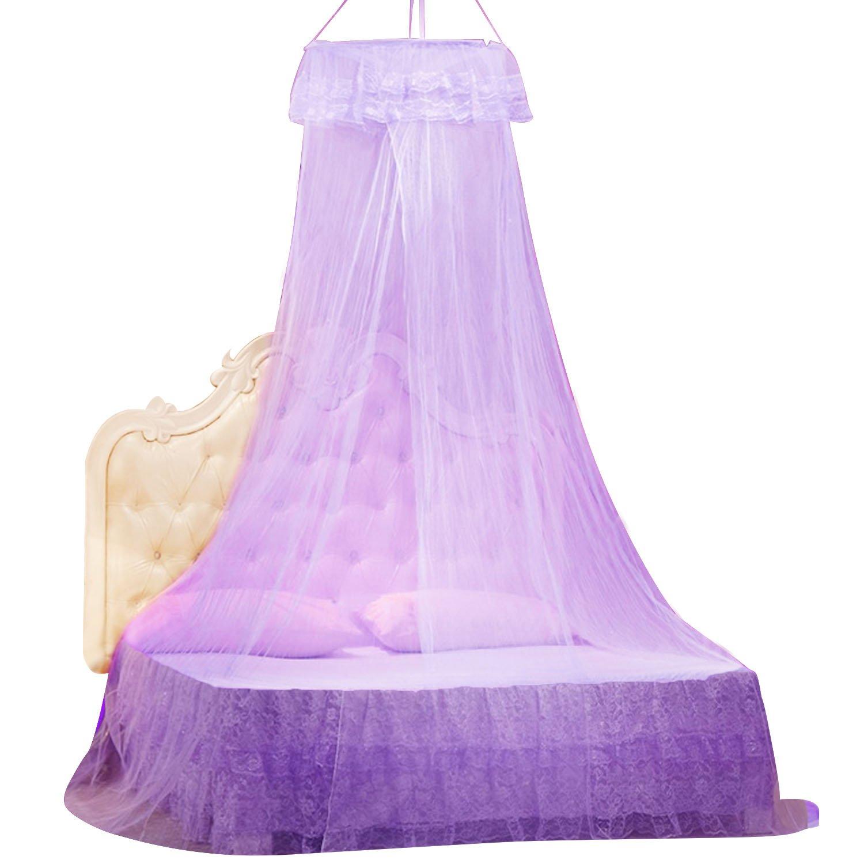 Gosear Dosel para Cama Nina Mosquitera cama Princesa Infantil Adult, Encaje Elegante, Protección Contra Insectos (Color Blanco)