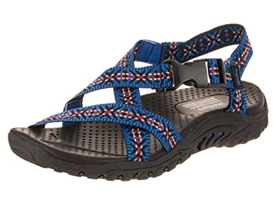 a46e706f75b0 Skechers Women s Reggae - Ribbons Sandal  Amazon.co.uk  Shoes   Bags