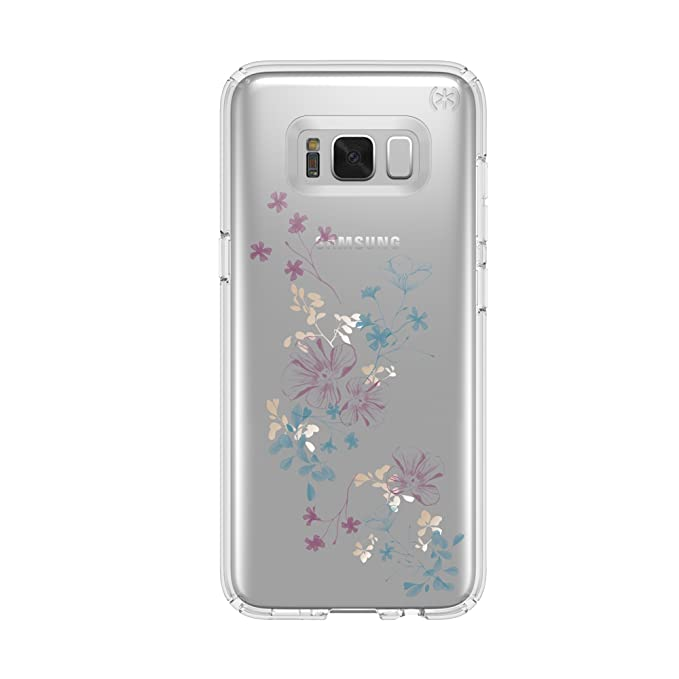 wholesale dealer a5002 97b82 Speck Products Presidio Clear + Print Cell Phone Case for Samsung Galaxy S8  - ChalkyFloral Purple/Clear