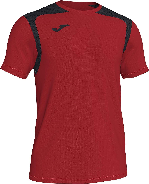 Joma Camiseta M/C Champion V 101264 Rojo-Negro Fashion Camiseta Hombre, 101264_601_S, Rojo-Negro, S: Amazon.es: Deportes y aire libre