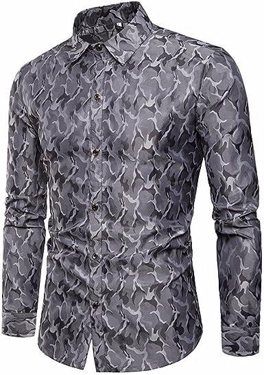Glaiidy Camisa Para Hombre Slim Con Ropa Fit Rayas festiva ...