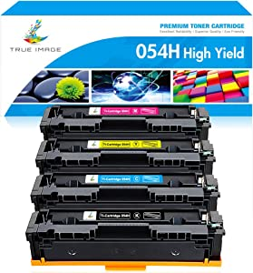 True Image Compatible Toner Cartridge Replacement for Canon 054 054H Canon Color ImageCLASS MF644Cdw LBP622Cdw MF642Cdw MF640C LBP620 MF644 CRG-054 Printer Ink (Black Cyan Yellow Magenta, 4-Pack)