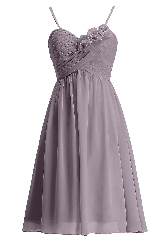gris 7 ans fille KekeHouse® Robe à Fines Bretelle Courte de Cérémonie Soirée Mariage Femme Fille Robe de Demoiselle d'honneur