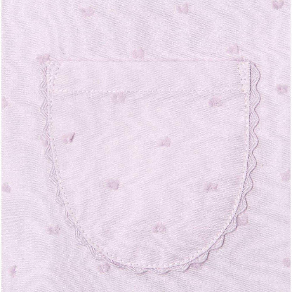 Victoria Beckham Girls Swiss Dot Button Down Top with Pocket